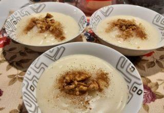 Elmalı Tarçınlı Pratik Muhallebi Tarifi